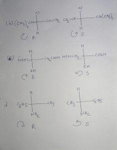 R/S Enantiomers ko Draw-Specify